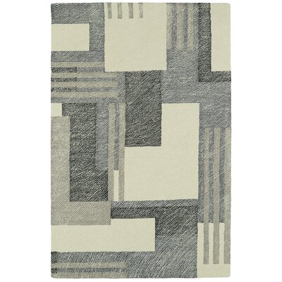 Hand-Tufted Gray/Beige Area Rug Rug Size: Rectangle 8 x 10
