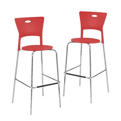 Kendra 31.5 Bar Stool Upholstery: Red