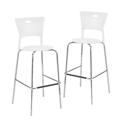 Streicher 31.5 Bar Stool Upholstery: White