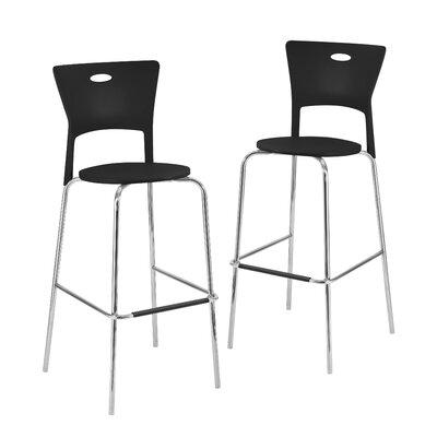 Kendra 31.5 Bar Stool Upholstery: Black