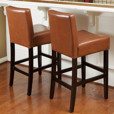 26 Bar Stool with Cushion Upholstery: Hazlenut