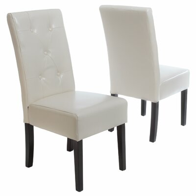 Corinne Upholstered Dining Chair Color: Ivory