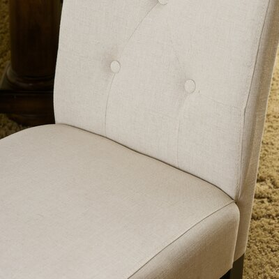 Corinne Side Chair in Fabric - Natural Plain