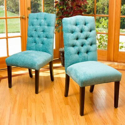 Alexis Parsons Chair Upholstery: Teal Green