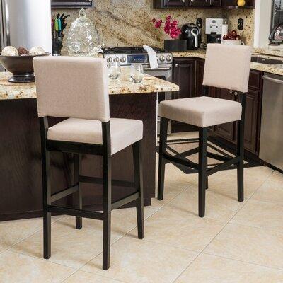 Murphy 29 Bar Stool Upholstery: Latte Beige