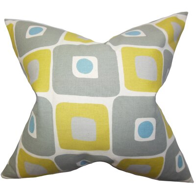 Debora Geometric Cotton Throw Pillow Size: 18x18