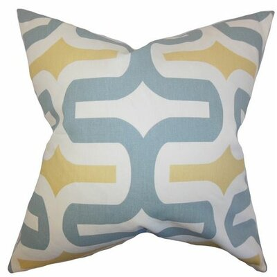 Suzanne Cotton Throw Pillow Cover Color: Macon, Size: 18 H x 18 W