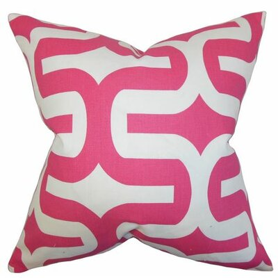 Suzanne Cotton Throw Pillow Cover Color: Candy, Size: 18 H x 18 W