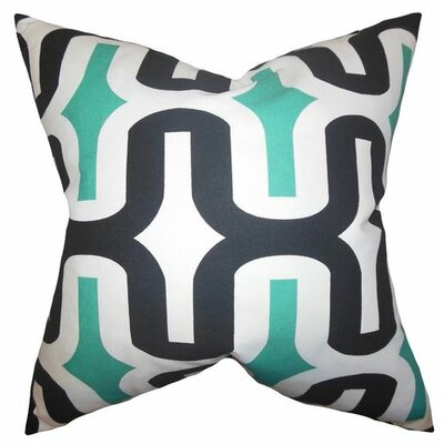 Suzanne Cotton Throw Pillow Cover Color: Jade, Size: 20 H x 20 W