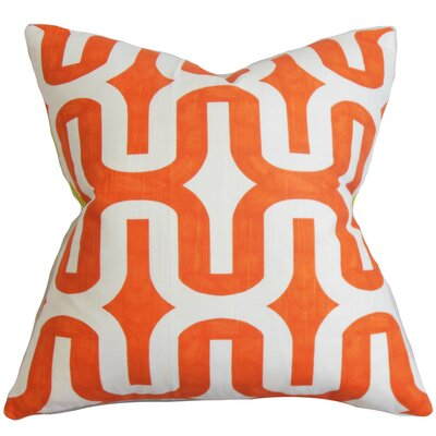 Suzanne Geometric Cotton Throw Pillow Size: 18 H x 18 W, Color: Ash Grey