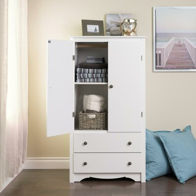 Wanda 2 Door Armoire Finish: White Monterey