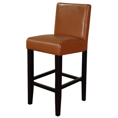 Aubrey 26 Bar Stool Upholstery: Light Brown With Brown Legs