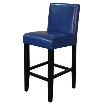 Aubrey 26 Bar Stool Upholstery: Blue With Black Legs
