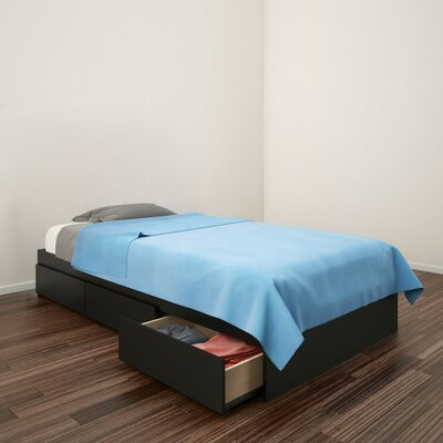 Chelsey Wood Platform Bed with Storage Size: Twin