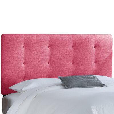 Angelique Tufted Panel Headboard Size: Twin, Upholstery: Groupie Azalea
