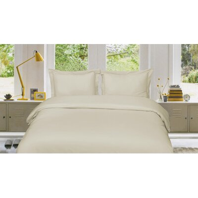 Russel 3 Piece Reversible Duvet Cover Set Size: Queen, Color: Light Ivory