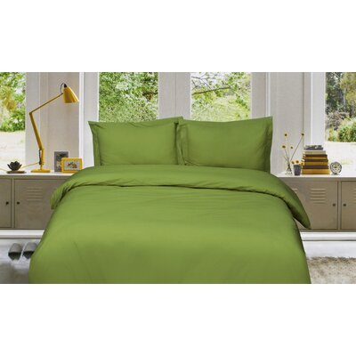 Russel 3 Piece Reversible Duvet Cover Set Size: King/California King, Color: Green