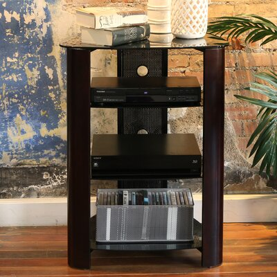 Audio Rack with Glass Shelves Finish: Espresso