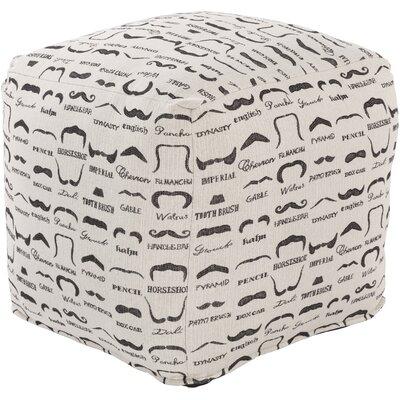 Noelle Cube Ottoman Upholstery: Ivory