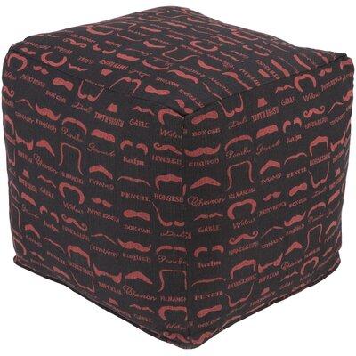 Noelle Pouf Ottoman Upholstery: Black
