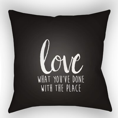 Maricela Indoor/Outdoor Throw Pillow Size: 20 H x 20 W x 4 D, Color: Black