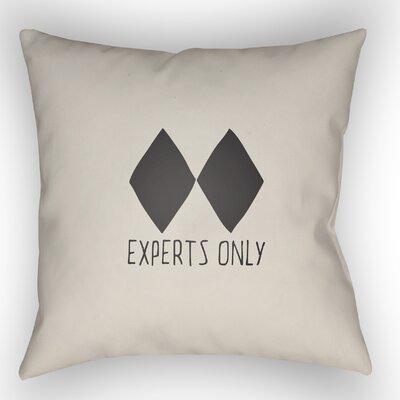 Indoor/Outdoor Throw Pillow Size: 18 H x 18 W x 4 D, Color: Beige
