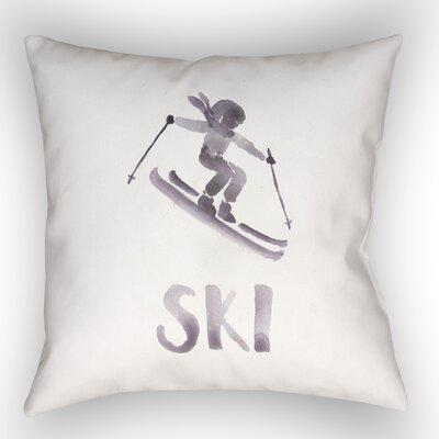 Indoor/Outdoor Throw Pillow Size: 18 H x 18 W x 4 D, Color: Dark Purple