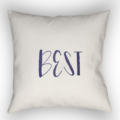Indoor/Outdoor Throw Pillow Size: 20 H x 20 W x 4 D, Color: Dark Blue