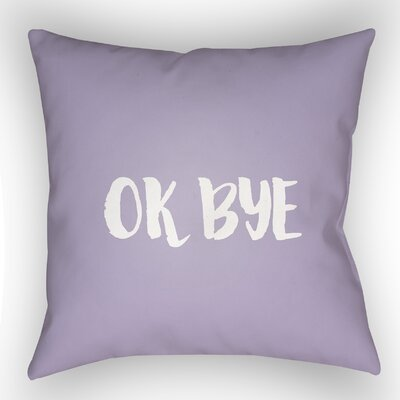 Indoor/OutdoorThrow Pillow Size: 18 H x 18 W x 4 D, Color: Purple