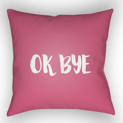 Indoor/OutdoorThrow Pillow Size: 20 H x 20 W x 4 D, Color: Pink
