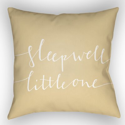 Indoor/Outdoor Throw Pillow Size: 20 H x 20 W x 4 D, Color: Yellow