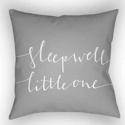 Indoor/Outdoor Throw Pillow Size: 20 H x 20 W x 4 D, Color: Gray