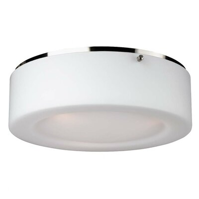 Belrose 2-Light Flush Mount Size / Bulb Type: 3.75 H x 13.5 W/Incandescent