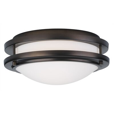 Belfield 1-Light Flush Mount Fixture Finish: Deep Bronze
