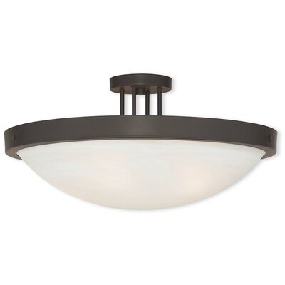 Ann 5-Light Semi Flush Mount Finish: Bronze