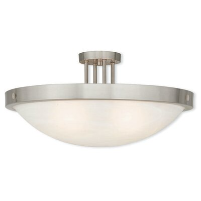 Ann 5-Light Semi Flush Mount Finish: Brushed Nickel