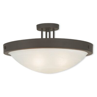 Ann 4-Light Semi Flush Mount Finish: Bronze