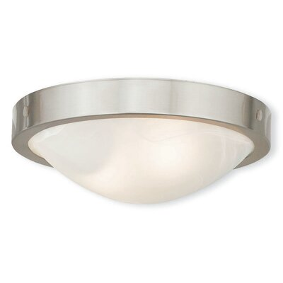 Ann 2-Light Flush Mount Finish: Brushed Nickel