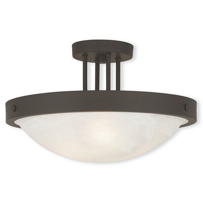 Ann 3-Light Semi Flush Mount Finish: Bronze