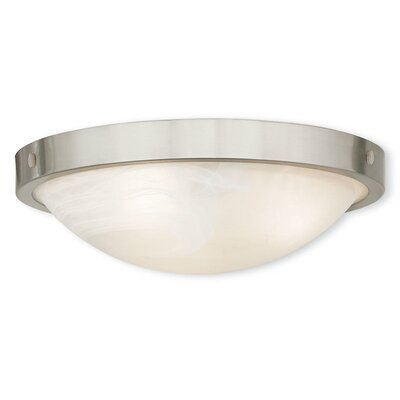 Ann 3-Light Flush Mount Finish: Brushed Nickel