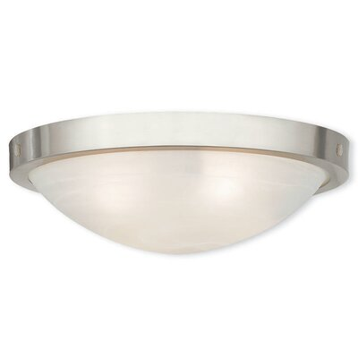 Ann 4-Light Flush Mount Finish: Brushed Nickel