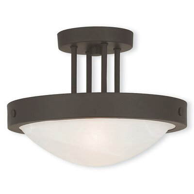 Ann 2-Light Semi Flush Mount Finish: Bronze