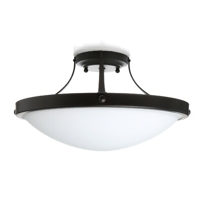 Zetland 2-Light Semi Flush Mount