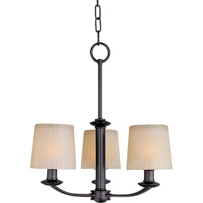 Wendell 3-Light Shaded Chandelier Finish: Oil Rubbed Bronze
