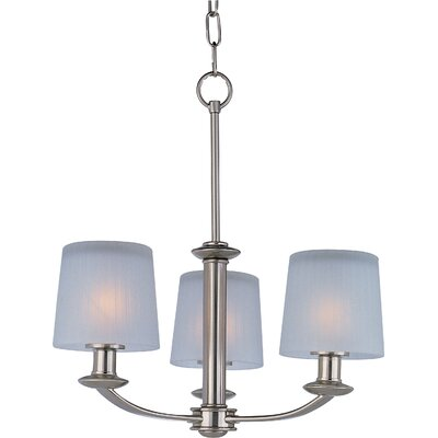Wendell 3-Light Shaded Chandelier Finish: Satin Nickel