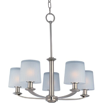 Wendell 5-Light Shaded Chandelier Finish: Satin Nickel