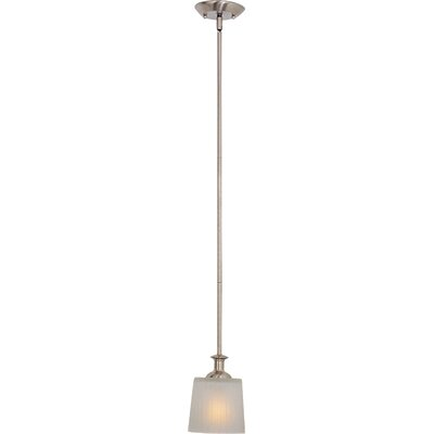 Wendell 1-Light Mini Pendant Finish: Satin Nickel