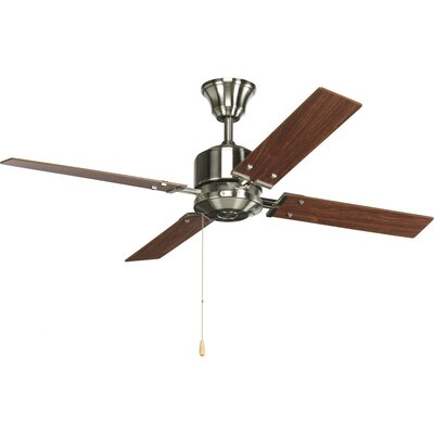 Chickamauga 54 4-Blade Ceiling Fan Finish: Brushed Nickel with Cherry / Natural Cherry Blades