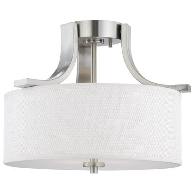 Lake Park 2-Light Ceiling Lamp in Brushed Nickel Finish: Brushed Nickel