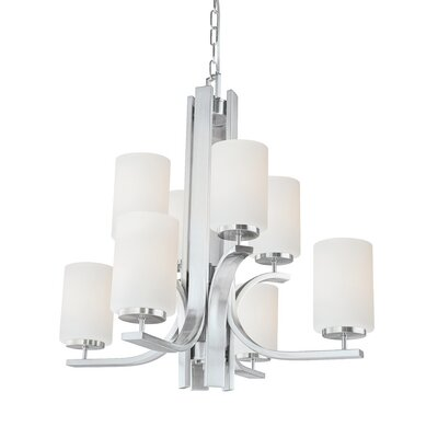 Lake Park 8-Light Shaded Chandelier Finish: Brushed Nickel